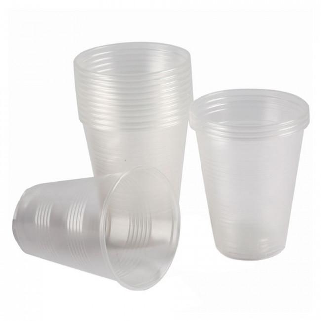 Plastik Bardak Standart 180ml Şeffaf 100lü