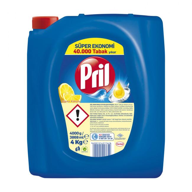 Pril Limon Bulaşık Deterjanı 4kg