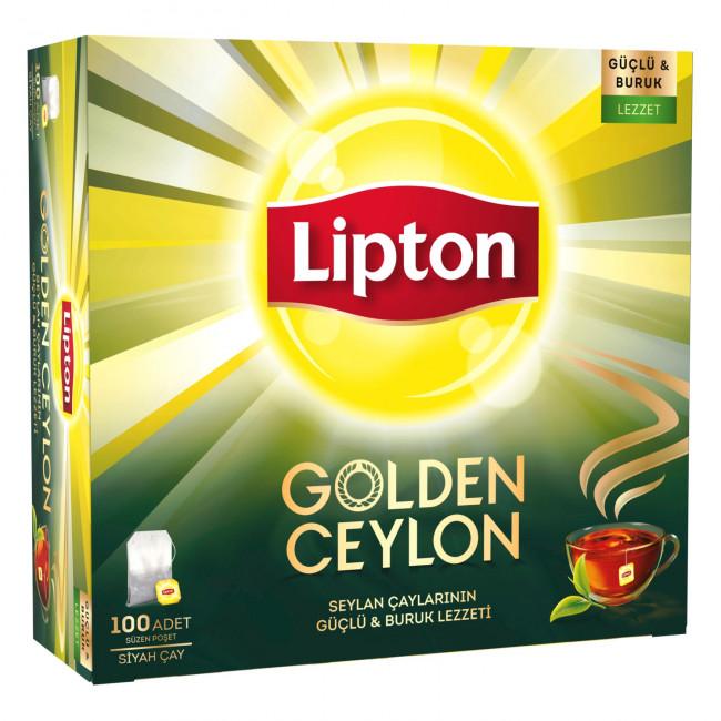 Lipton Golden Ceylon Bardak Poşet Çay 100lü