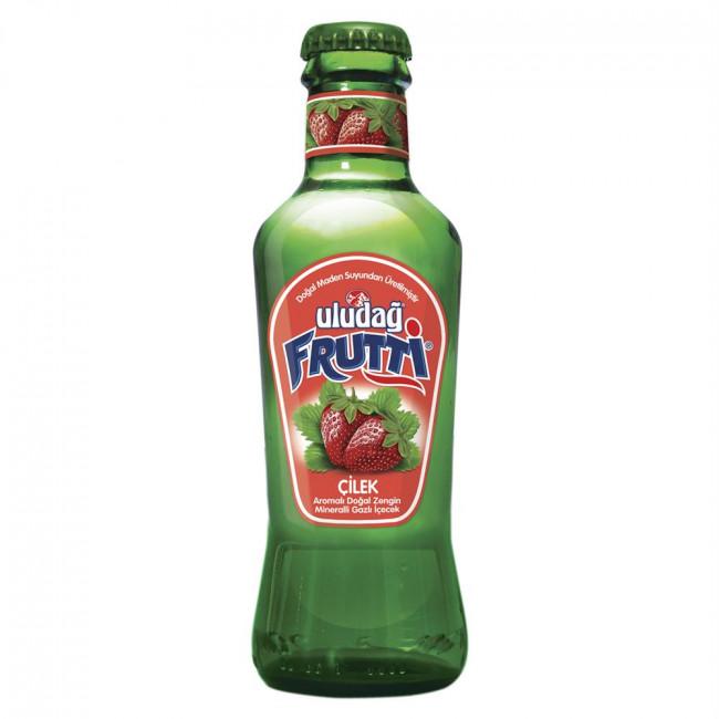 Uludağ Frutti Meyveli Soda Çilek Cam Şişe 200ml