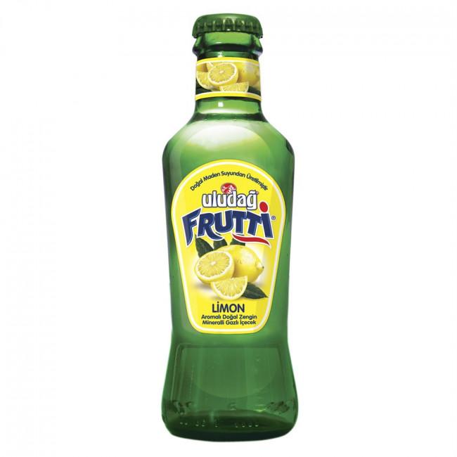 Uludağ Frutti Meyveli Soda Limon Cam Şişe 200ml