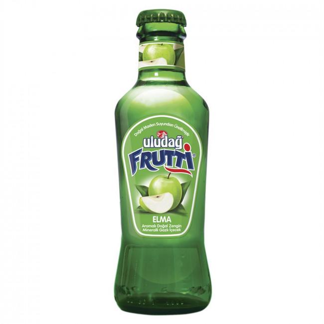 Uludağ Frutti Meyveli Soda Elma Cam Şişe 200ml
