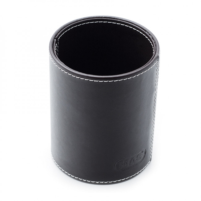 Mas 3804 Suni Deri Silindir Kalemlik Siyah