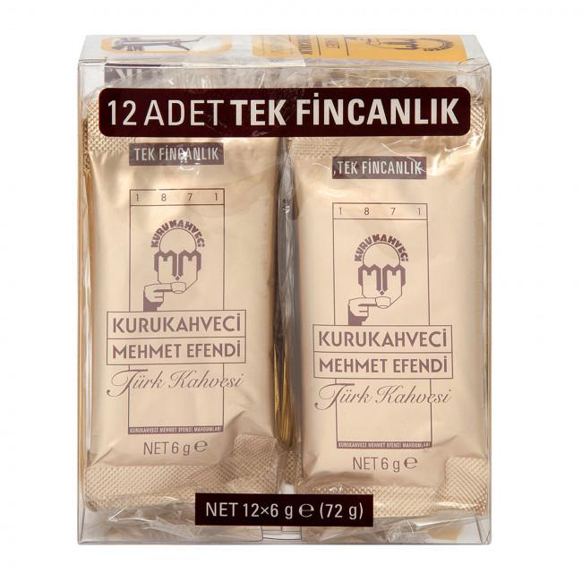 Kurukahveci Mehmet Efendi Türk Kahvesi 12x6gr
