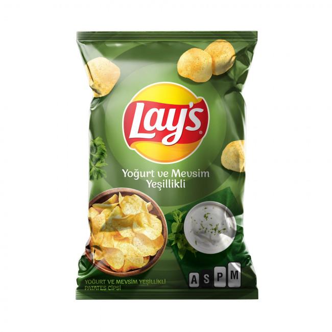 Lays Yoğurt & Bahar Yeşillikleri Süper Boy 107gr