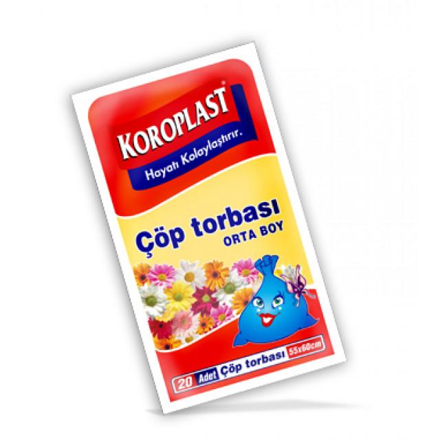 Koroplast Premium Çöp Torbası 55x60cm Orta 20li