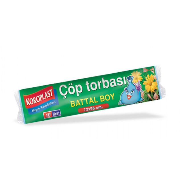 Koroplast Premium Çöp Torbası 72x95cm Battal 10lu
