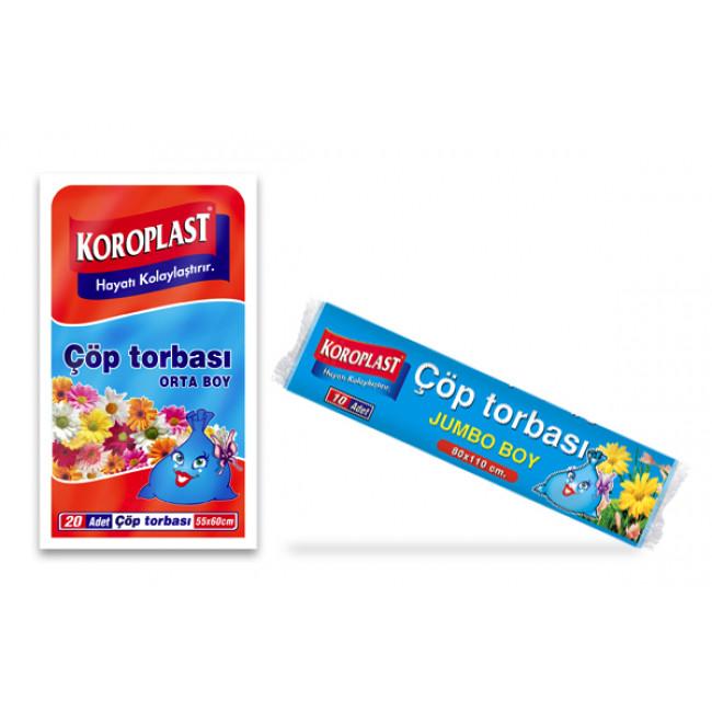 Koroplast Premium Çöp Torbası Hantal Boy 100x150cm
