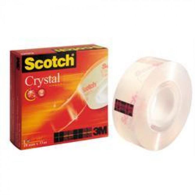 3M Scotch 600 Kristal Şeffaf Bant Tekli 19x33mt