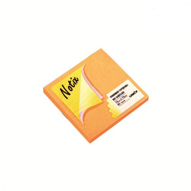Notix Yapışkanlı Not Kağıdı Turuncu 75x75mm 80 Yaprak