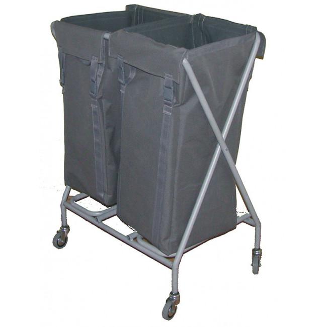Çöp / Çamaşır Toplama Arabası 2x100LT (Boyalı) Kod: ÇT265MB
