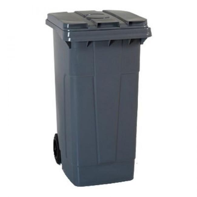 Plastik Çöp Konteyneri 240lt Gri